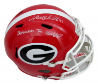"""Nick Chubb Signed Georgia Bulldogs Full-Size Speed Helmet Inscribed """"Between the Hedges"""" (JSA COA) at PristineAuction.com"""