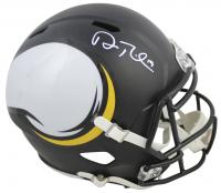 Adam Thielen Signed Minnesota Vikings Full-Size AMP Alternate Speed Helmet (Beckett COA) at PristineAuction.com