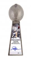 "Deion Sanders Signed Dallas Cowboys 15"" Replica Lombardi Trophy (Beckett COA) at PristineAuction.com"