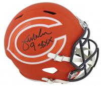"Jim McMahon Signed Chicago Bears Full-Size AMP Alternate Speed Helmet Inscribed ""SB XX"" (Beckett COA) at PristineAuction.com"