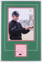 Gary Player Signed 12x18 Custom Matted Cut Display Kit (Palm Beach COA) at PristineAuction.com