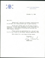 George H. W. Bush Signed Letter (PSA LOA) at PristineAuction.com