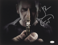 "Jon Bernthal Signed ""The Punisher"" 11x14 Photo with Hand-Drawn Sketch of Punisher Logo (JSA COA) at PristineAuction.com"