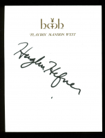 Hugh Hefner Signed 4.25x5.5 Cut (PSA LOA) at PristineAuction.com
