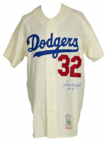 "Sandy Koufax Signed Los Angeles Dodgers Mitchell & Ness Jersey Inscribed ""HOF 72"" (PSA LOA) at PristineAuction.com"