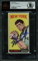 Joe Namath Signed 1965 Topps #122 RC (BVG Encapsulated) at PristineAuction.com