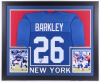 Saquon Barkley Signed 35x43 Custom Framed Jersey (Beckett COA) at PristineAuction.com