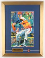 "LeRoy Neiman ""Nolan Ryan"" 15x19.5 Custom Framed Print Display with Houston Astros Vintage Pin at PristineAuction.com"