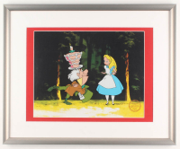 "Walt Disney's ""Alice in Wonderland"" 17x21 Custom Framed Animation Serigraph Display at PristineAuction.com"
