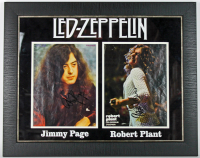 "Jimmy Page & Robert Plant Signed ""Led Zeppelin"" 19x24 Custom Framed Magazine Photo Display (PSA LOA) at PristineAuction.com"