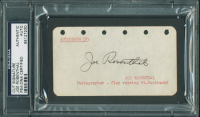 Joe Rosenthal Signed 2.5x4.5 Cut (PSA Encapsulated) at PristineAuction.com