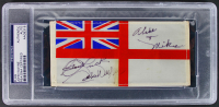 "John Wayne Signed 3x6 White Ensign Table Flag Inscribed ""Good Luck"" (PSA Encapsulated) at PristineAuction.com"