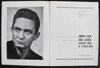 "Johnny Cash Signed ""The Fabulous Johnny Cash"" Tour Program (Beckett LOA) at PristineAuction.com"