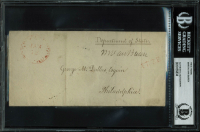 Martin Van Buren Signed 1830 Department of State 5x7 Free Frank Envelope (BAS Encapsulated) at PristineAuction.com