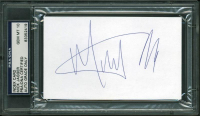 Mick Jagger Signed 3x5 Index Card (PSA Encapsulated) at PristineAuction.com