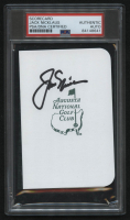 """Jack Nicklaus Signed """"Masters"""" Augusta National Golf Club Score Card (PSA Encapsulated) at PristineAuction.com"""