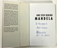 "Nelson Mandela Signed ""One Step Behind Mandela"" Hardcover Book Inscribed ""Best Wishes"" & ""29-11-2000"" (PSA LOA) at PristineAuction.com"