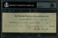 Orville Wright Signed Personal Bank Check (BGS Encapsulated) at PristineAuction.com
