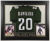 Brian Dawkins Signed 35x43 Custom Framed Jersey (JSA Hologram) at PristineAuction.com
