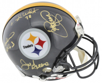 "Pittsburgh Steelers ""Steel Curtain"" Full-Size Authentic On-Field Helmet Team-Signed by (4) with Joe Greene, L. C. Greenwood, Ernie Holmes, & Dwight White (Beckett COA) at PristineAuction.com"
