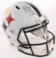JuJu Smith-Schuster Signed Pittsburgh Steelers Full-Size AMP Alternate Speed Helmet (JSA COA) at PristineAuction.com