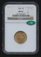 1900 $5 Liberty Head Half Eagle Gold Coin (NGC MS 63) (CAC) at PristineAuction.com