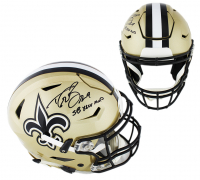"Drew Brees Signed New Orleans Saints Full-Size Authentic On-Field SpeedFlex Helmet Inscribed ""SB XLIV MVP"" (Beckett COA) at PristineAuction.com"