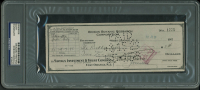 Thomas Edison Signed Bank Check (PSA Encapsulated) at PristineAuction.com