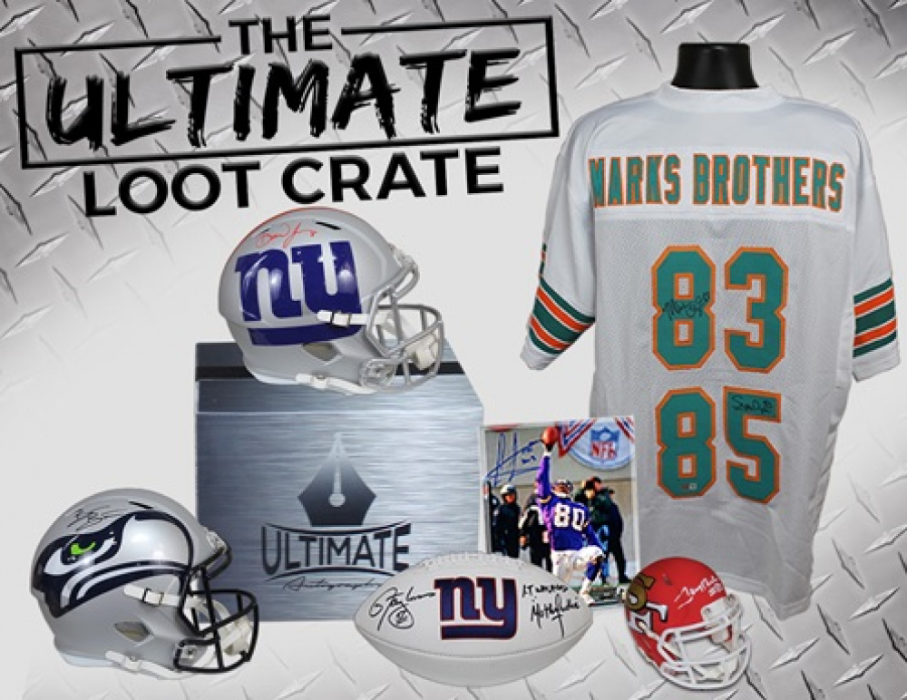 Ultimate Autographs Football Mystery Box Loot Crate - 5 Items in EVERY box! - Limited to ONLY 10 Boxes! at PristineAuction.com