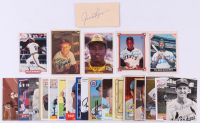 Lot of (24) Signed Baseball Cards with 1982 Baseball Card News #18 Joe DiMaggio, 1992 Front Row Stargell #1 Willie Stargell / Born, 1941, 1986 Donruss #280 Rod Carew & 1991 Score #525 Robin Yount  (JSA ALOA) at PristineAuction.com