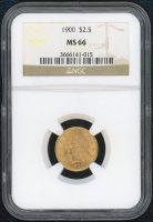 1900 $2.50 Liberty Head Gold Coin (NGC MS 66) at PristineAuction.com