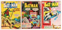 "Lot of (3) 1961-1966 ""Batman"" DC Comic Books at PristineAuction.com"