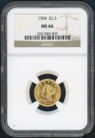 1904 $2.50 Liberty Head Gold Coin (NGC MS 66) at PristineAuction.com
