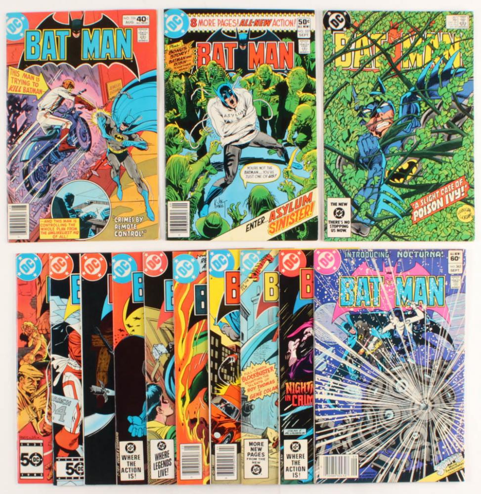 "Lot of (13) 1963-1986 ""Batman"" DC Comic Books at PristineAuction.com"