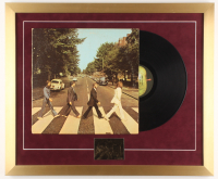 """The Beatles """"Abbey Road"""" 20x24 Custom Framed Vintage LP Vinyl Record Display with 24 KT Gold Card at PristineAuction.com"""