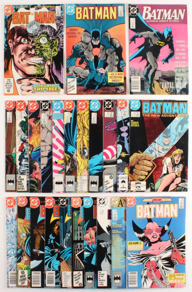 "Lot of (24) 1984-1989 ""Batman"" DC Comic Books at PristineAuction.com"
