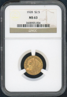 1928 $2.50 Indian Head Gold Coin (NGC MS 63) at PristineAuction.com