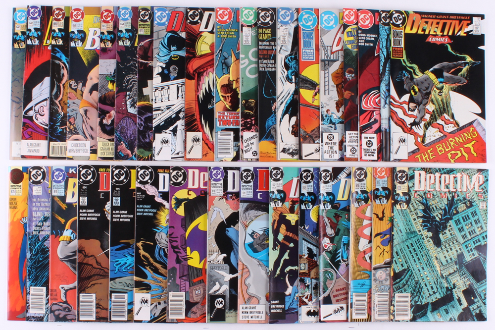 "Lot of (34) 1982-1994 ""Detective Comics"" DC Comic Books at PristineAuction.com"