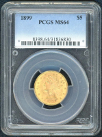 1899 $5 Liberty Gold Coin (PCGS MS 64) at PristineAuction.com