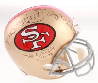 "Joe Montana & Dwight Clark Signed San Francisco 49ers Full-Size Helmet Inscribed ""The Catch 1.10.82"" & Hand-Drawn Play (PSA COA & Beckett COA) at PristineAuction.com"