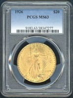 1926 $20 Saint Gaudens Gold Coin (PCGS MS 63) at PristineAuction.com