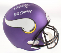 "Kyle Rudolph Signed Minnesota Vikings Full-Size Matte Purple Helmet Inscribed ""Big Country"" (TSE COA) at PristineAuction.com"