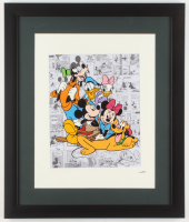 """Walt Disney's """"Mickey Mouse & Friends"""" 16x19 Custom Framed Hand-Painted Animation Cel Display at PristineAuction.com"""