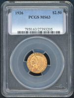 1926 $2.50 Indian Head Gold Coin (PCGS MS 63) at PristineAuction.com