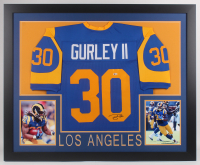 Todd Gurley Signed 35x43 Custom Framed Jersey (Beckett COA) at PristineAuction.com