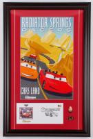 "Disneyland ""Radiator Springs Racers"" 17.5x26.5 Custom Framed Print Display with Envelope & (2) Coins at PristineAuction.com"