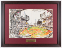 "LeRoy Neiman ""Sandy Koufax vs. Mickey Mantle"" 19.5x25 Custom Framed Print Display at PristineAuction.com"