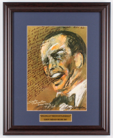 "LeRoy Neiman ""Sinatra at the Fontainebleau"" 15.5x19 Custom Framed Print Display at PristineAuction.com"