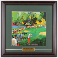 """LeRoy Neiman """"The 16th at Augusta"""" 18x18 Custom Framed Print Display at PristineAuction.com"""
