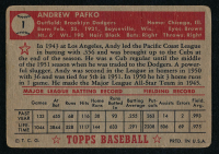 1952 Topps #1 Andy Pafko at PristineAuction.com
